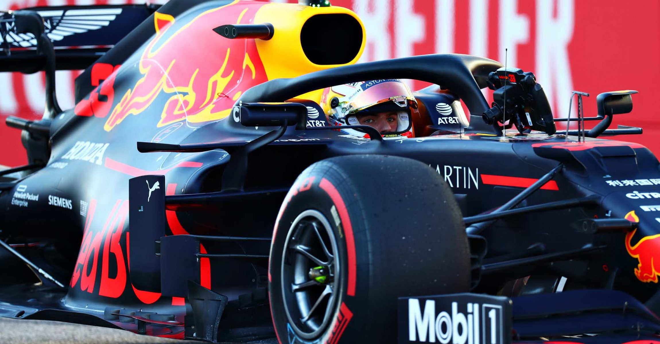 AUSTIN, TEXAS - NOVEMBER 02: Third place qualifier Max Verstappen of Netherlands and Red Bull Racing celebrates in parc ferme during qualifying for the F1 Grand Prix of USA at Circuit of The Americas on November 02, 2019 in Austin, Texas. (Photo by Dan Istitene/Getty Images) // Getty Images / Red Bull Content Pool // AP-222MCNH9D1W11 // Usage for editorial use only //