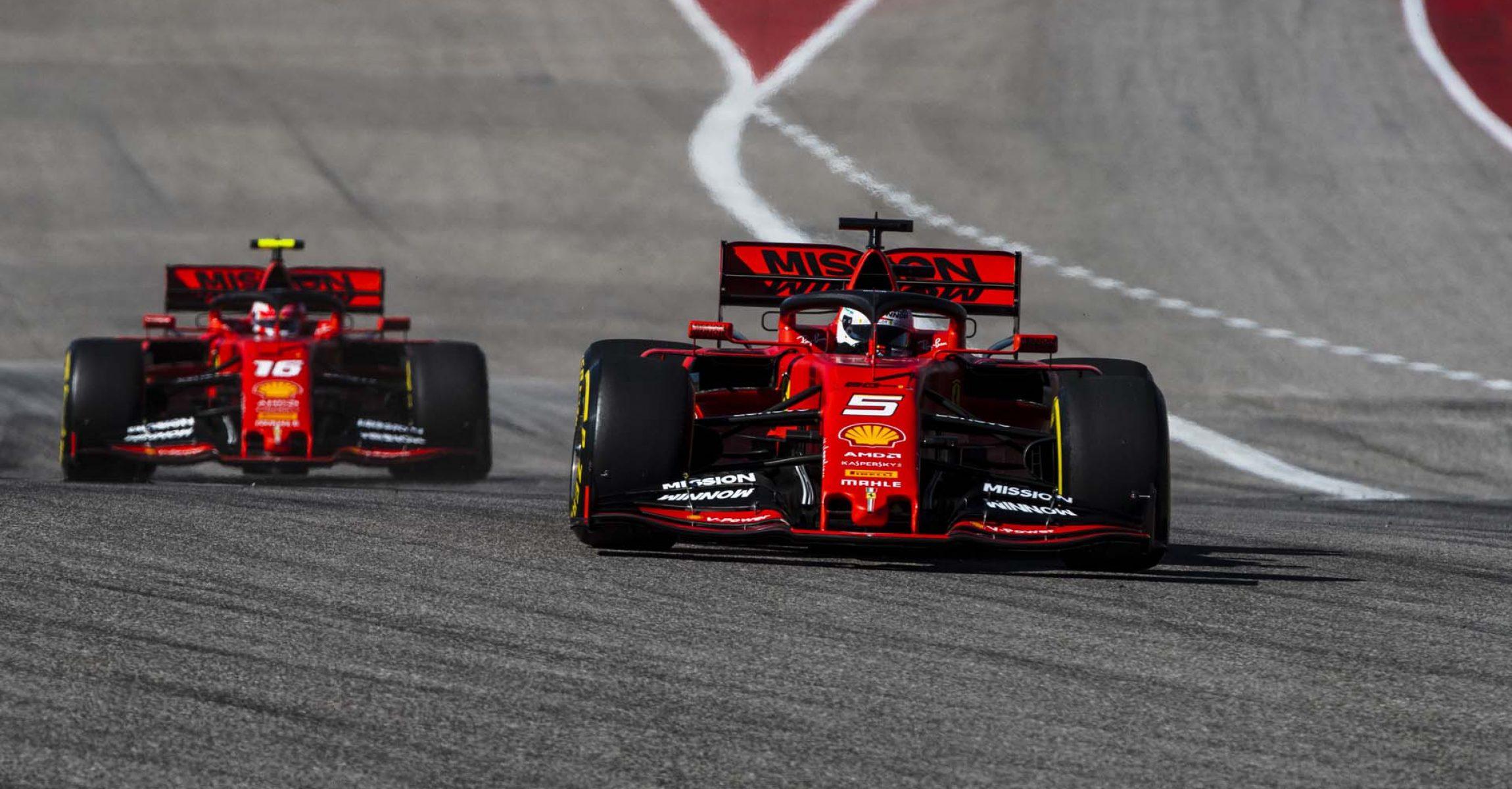 Sebastian Vettel Charles Leclerc Ferrari