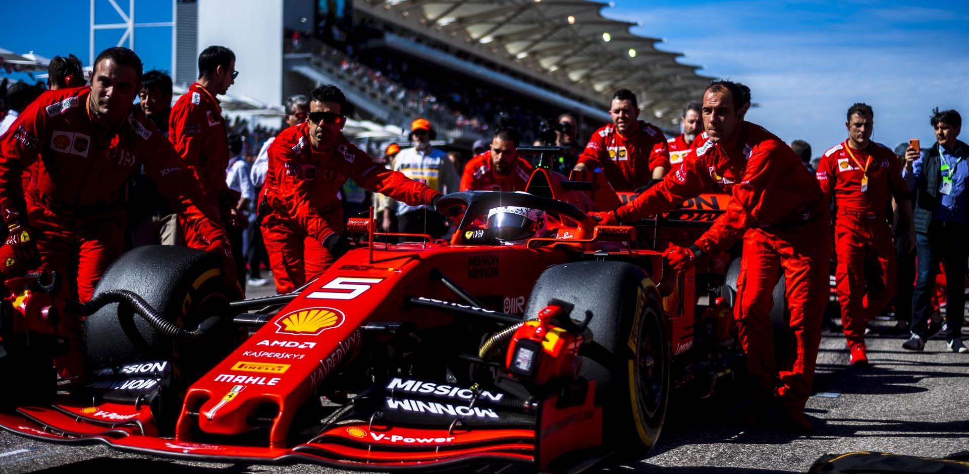 Sebastian Vettel Ferrari grid