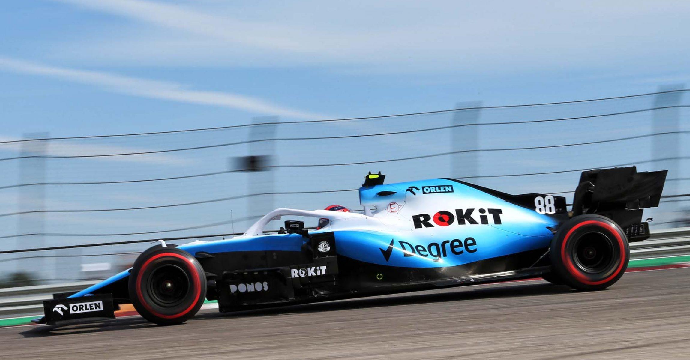 Robert Kubica (POL) Williams Racing FW42. United States Grand Prix, Saturday 2nd November 2019. Circuit of the Americas, Austin, Texas, USA.