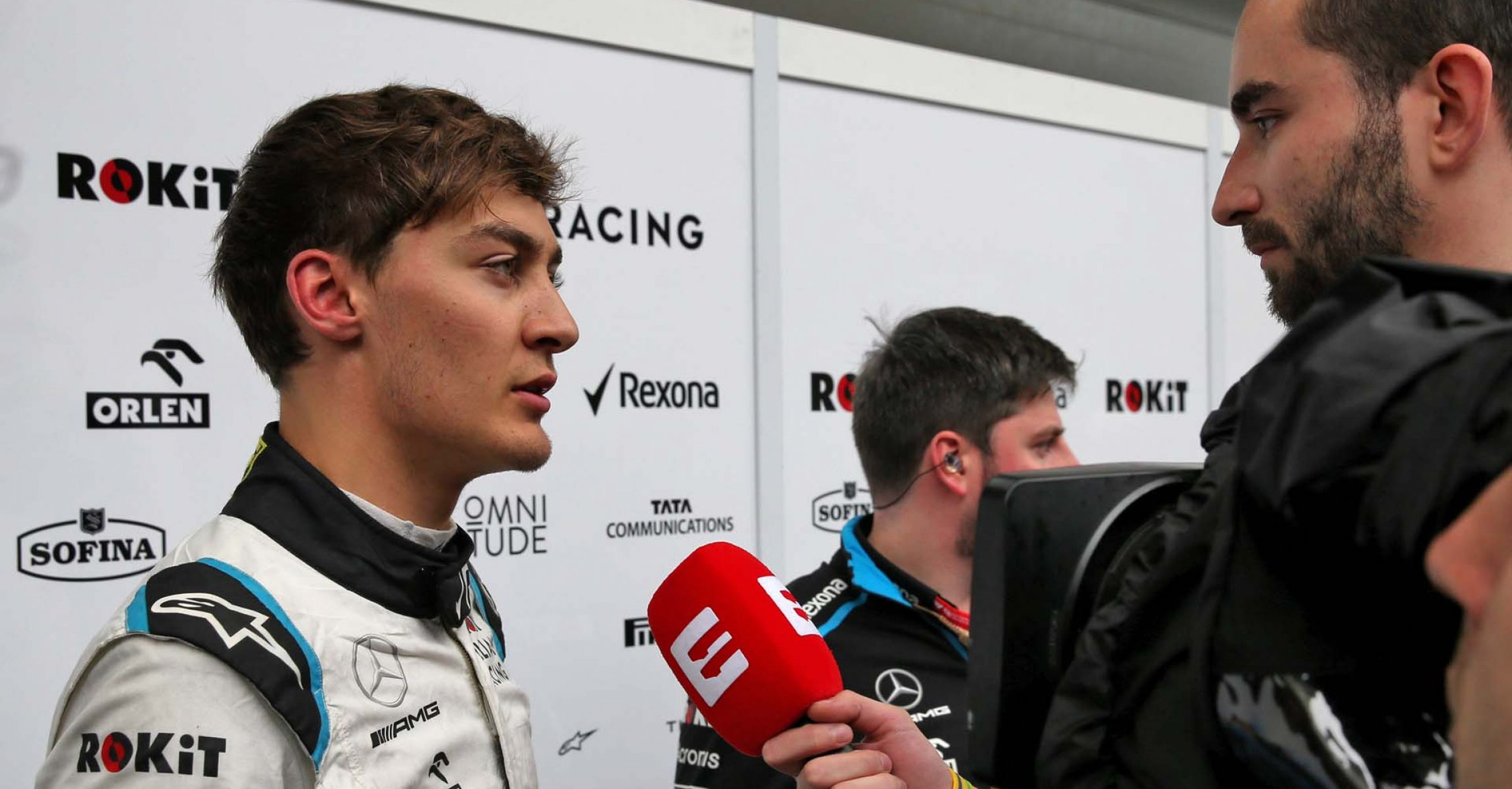 George Russell (GBR) Williams Racing with the media. Brazilian Grand Prix, Friday 15th November 2019. Sao Paulo, Brazil.