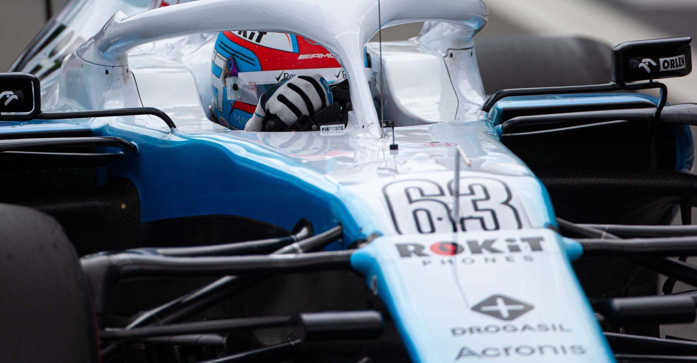 George Russell (GBR) Williams Racing FW42. Brazilian Grand Prix, Saturday 16th November 2019. Sao Paulo, Brazil.