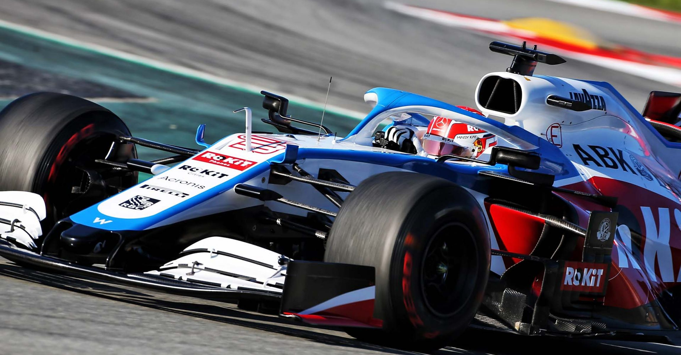 George Russell (GBR) Williams Racing FW43. Formula One Testing, Day 3, Friday 28th February 2020. Barcelona, Spain.