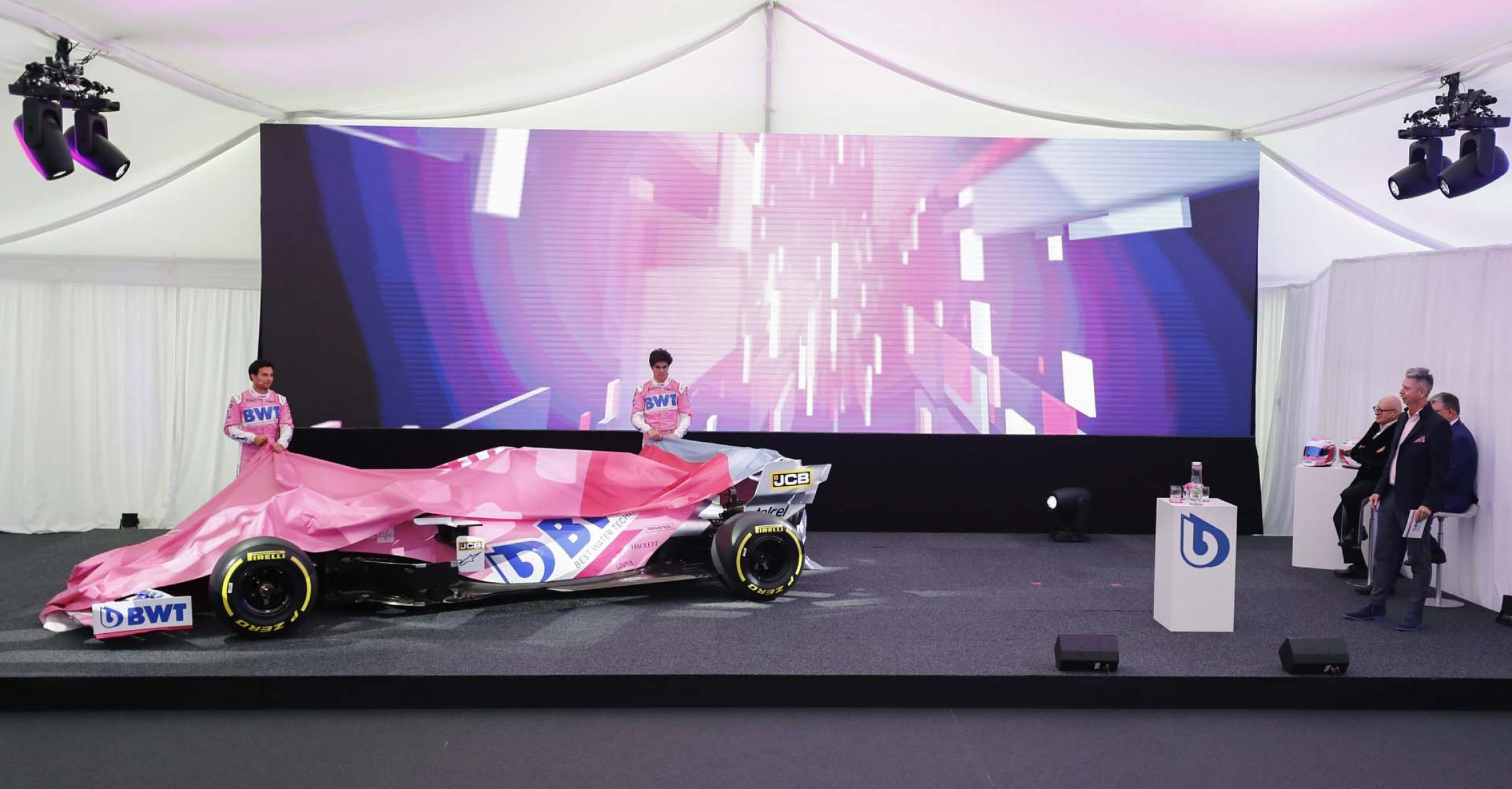 Sergio Perez, Racing Point and Lance Stroll, Racing Point launch the Racing Point 2020 car.