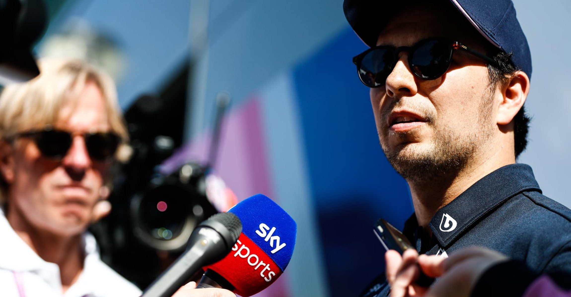Sergio Perez, Racing Point talks to the press Sky Sports F1
