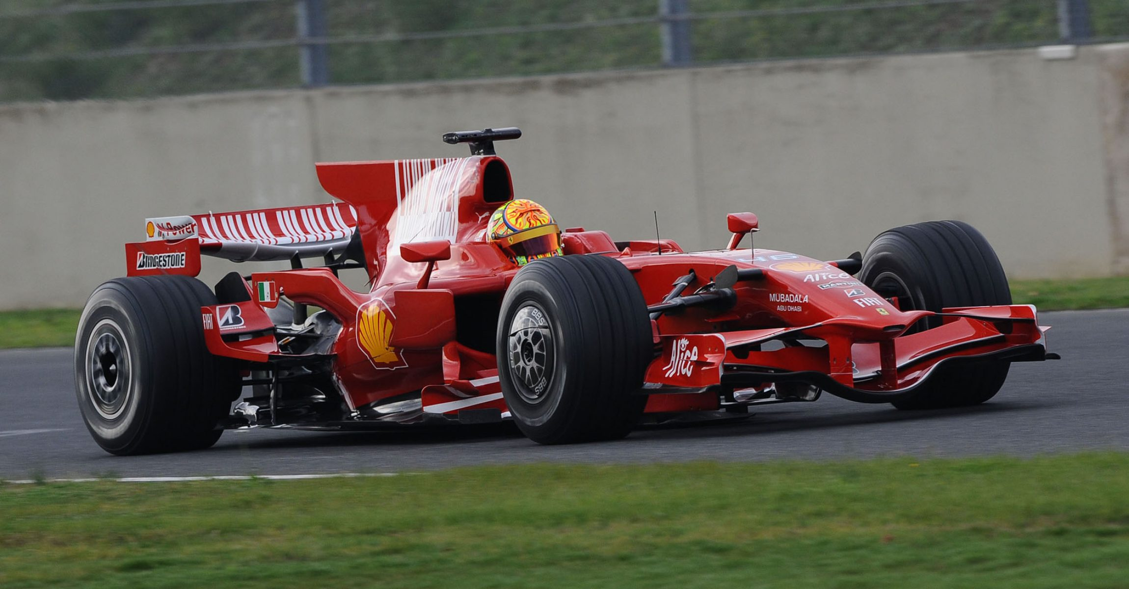 Valentino Rossi, Mugello, Ferrari test, 2008