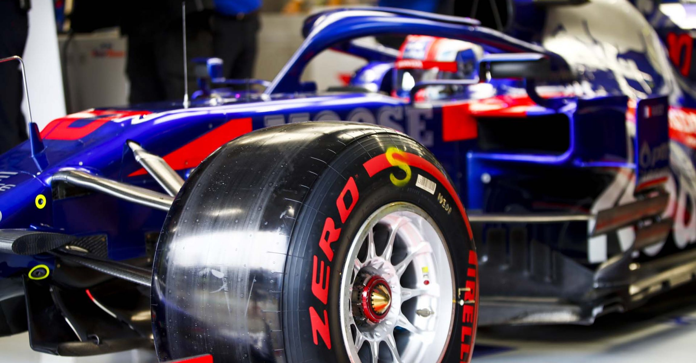SAO PAULO, BRAZIL - NOVEMBER 15: Pierre Gasly, Toro Rosso STR14 driving out of the garage during the 2019 Formula One Brazilian Grand Prix at Autódromo José Carlos Pace, on November 15, 2019 in Sao Paulo, Brazil. (Photo by Andy Hone / LAT Images)