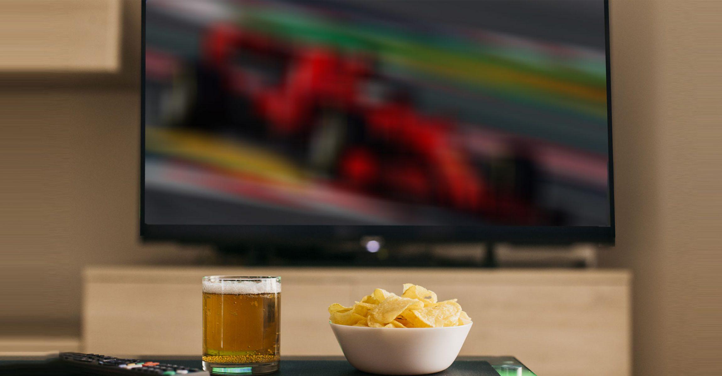 F1 Tv illusztráció szurkoló rajongó
