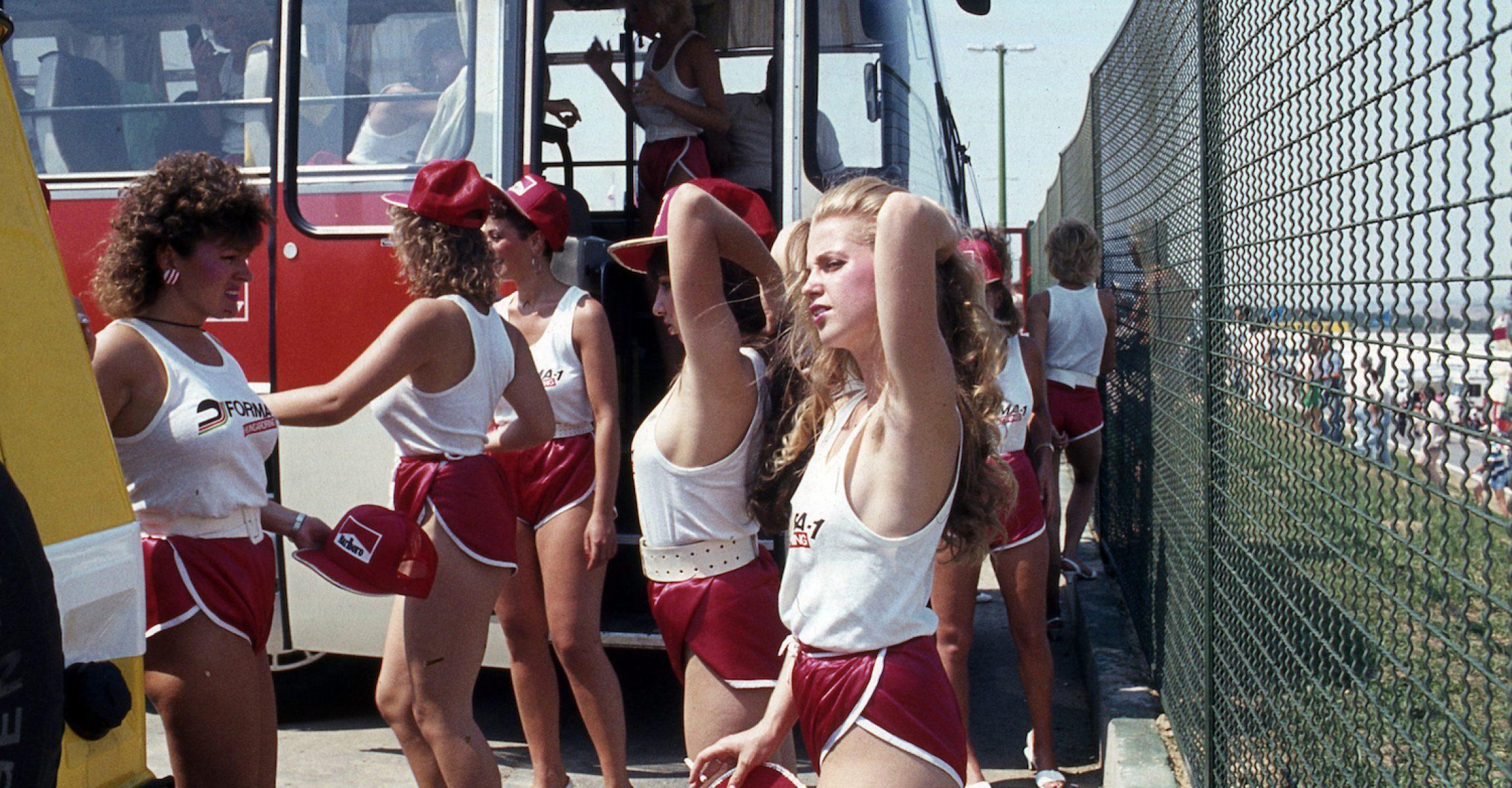 Grid girls, 1986 Hungarian Grand Prix