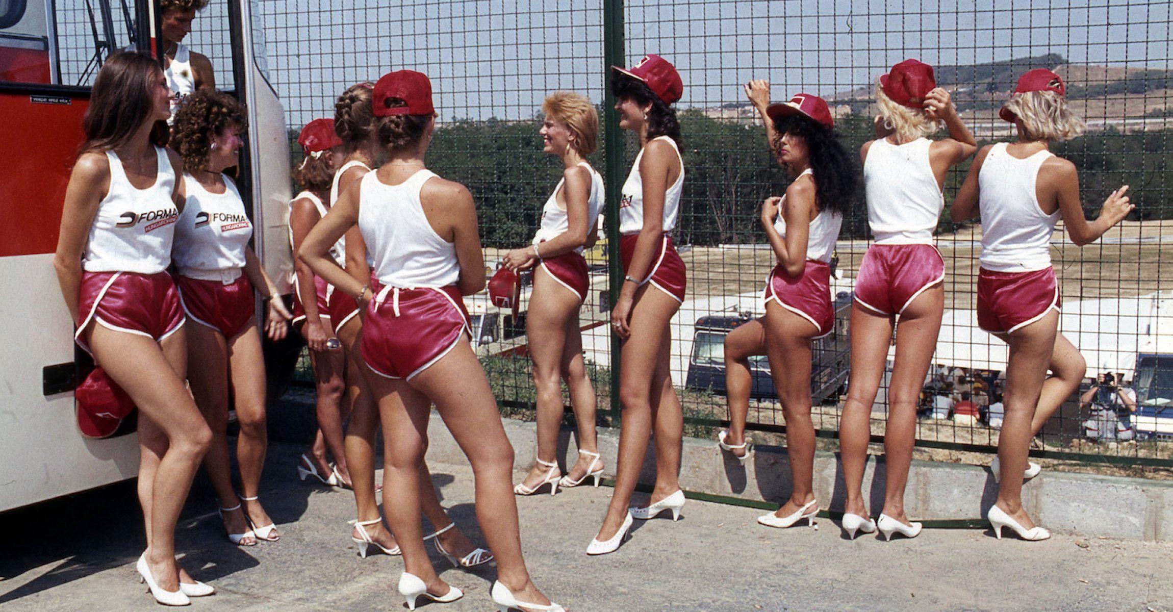 grid girls, grid  girl, 1986, Hungaroring, Hungarian GP