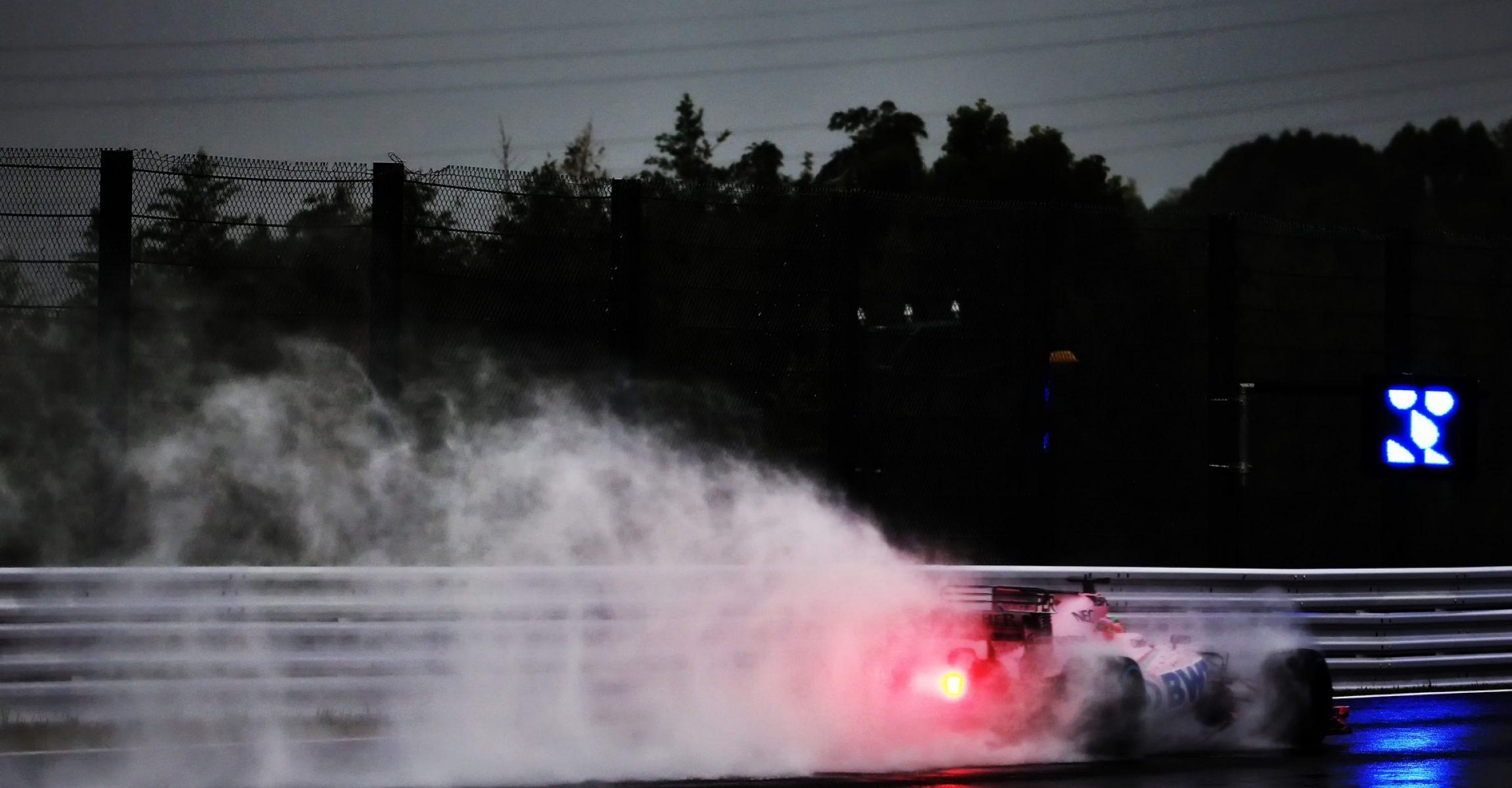 Sergio Perez (MEX) Sahara Force India F1 VJM10. Japanese Grand Prix, Friday 6th October 2017. Suzuka, Japan., JapaneseGP2017, rain, wet tyre,