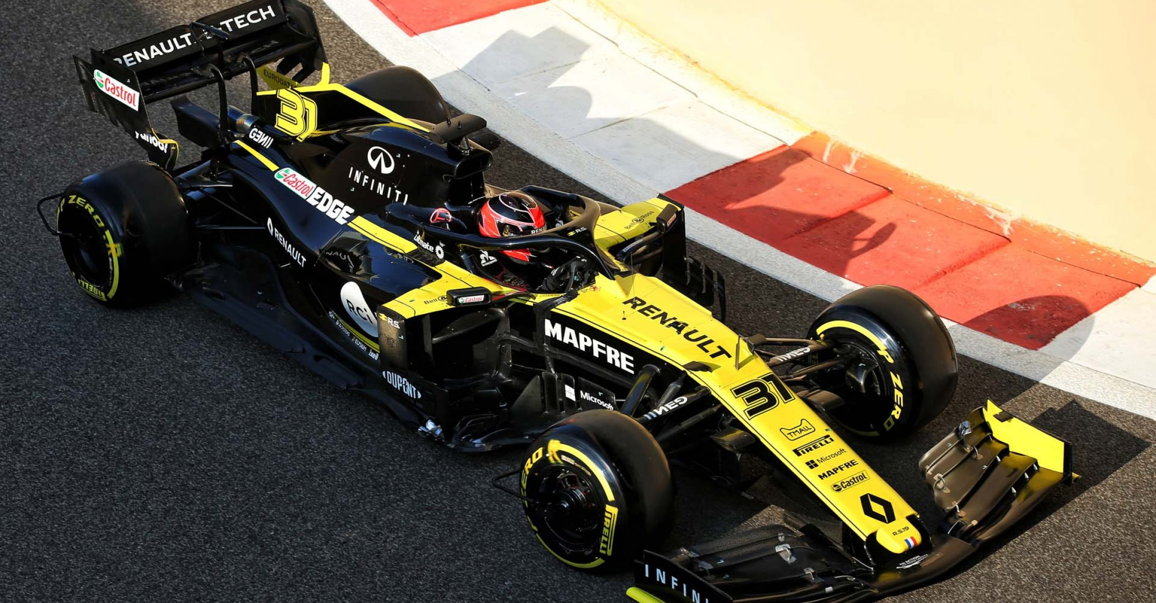 Esteban Ocon (FRA) Renault F1 Team RS19. Formula One Testing, Tuesday 3rd December 2019. Yas Marina Circuit, Abu Dhabi, UAE.