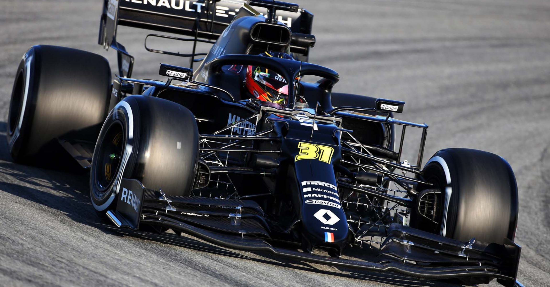 Esteban Ocon (FRA) Renault F1 Team RS20. Formula One Testing, Day 1, Wednesday 19th February 2020. Barcelona, Spain.