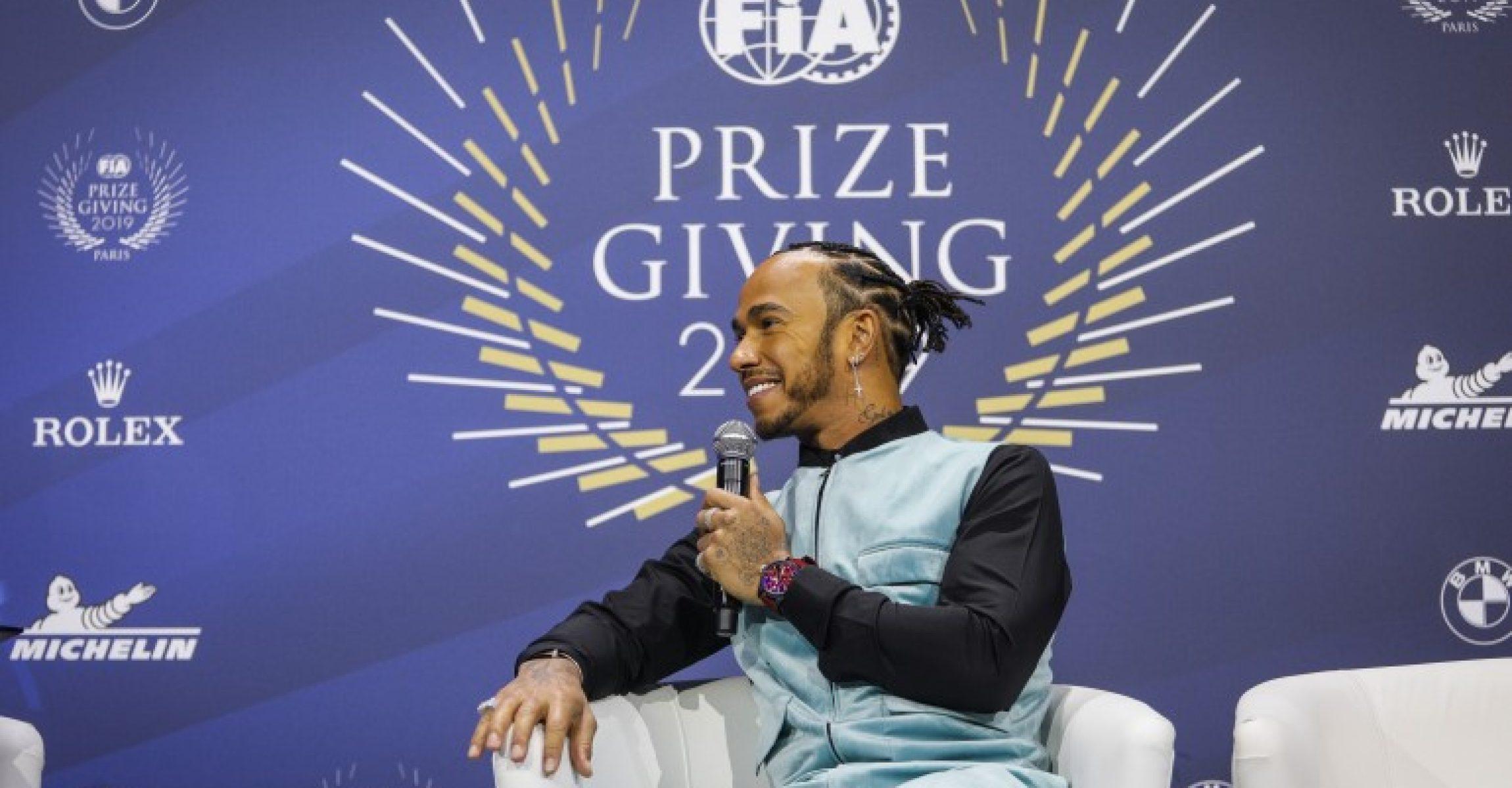 Lewis Hamilton, Paris, FIA Prize Giving Gala 2019